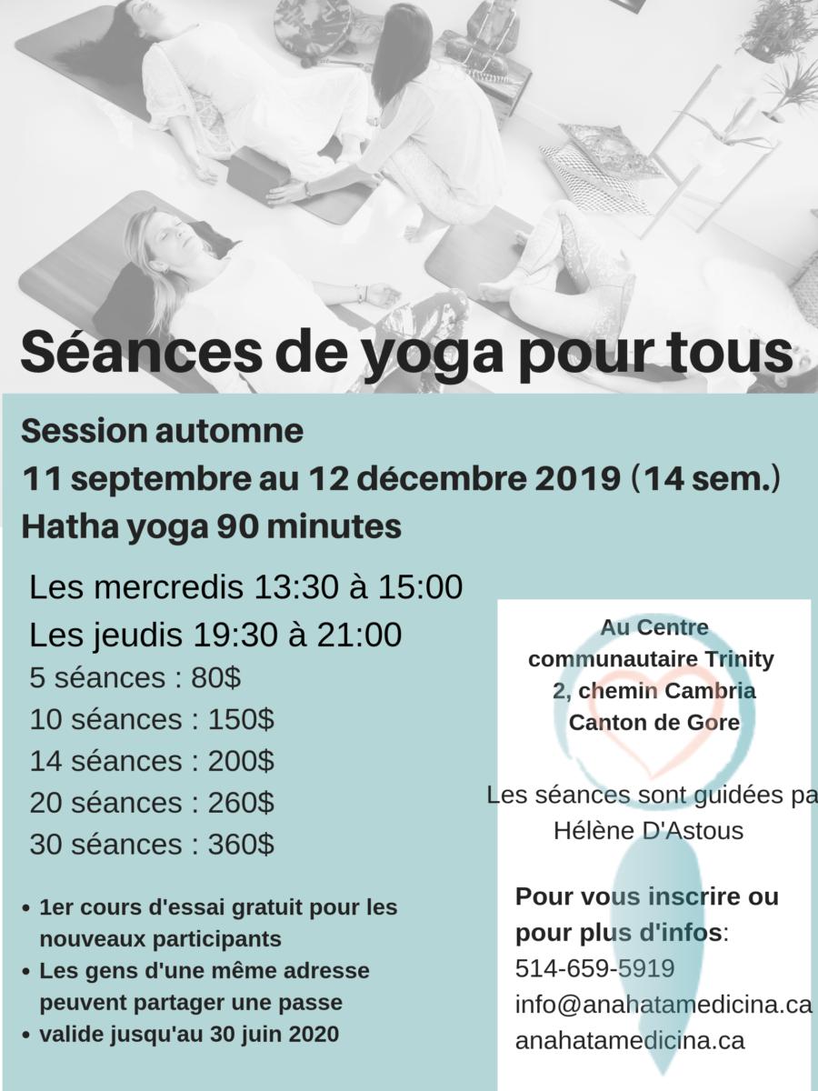 Yoga pour tous @ Centre communautaire Trinity