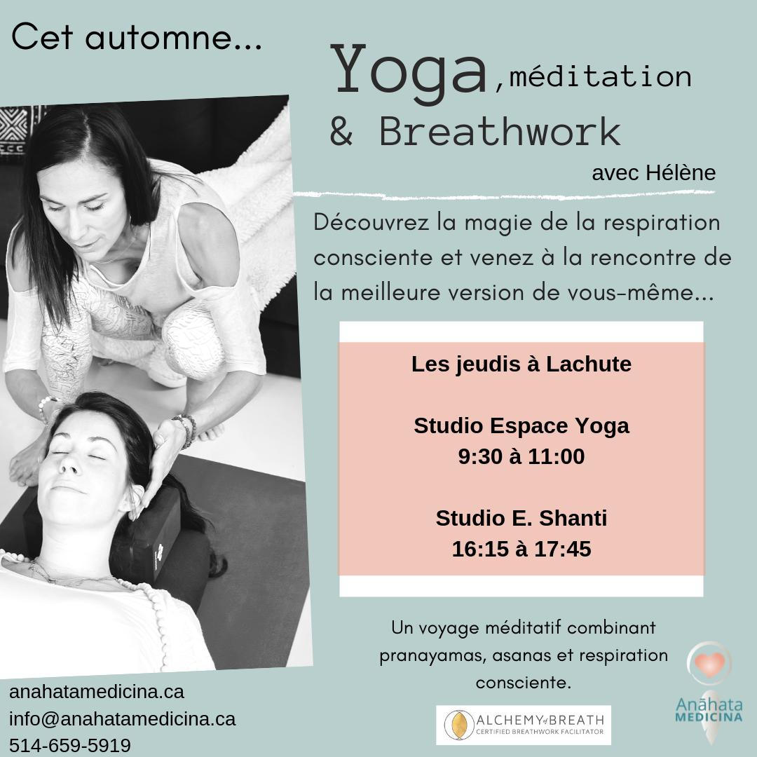 Yoga, méditation et Beathwork @ Espace yoga &Studio Shanti