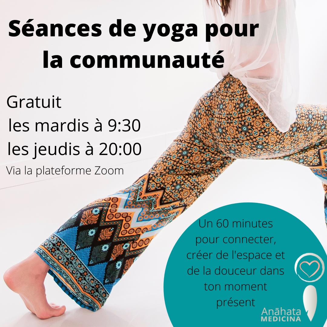 Séances de yoga pour la communauté-2