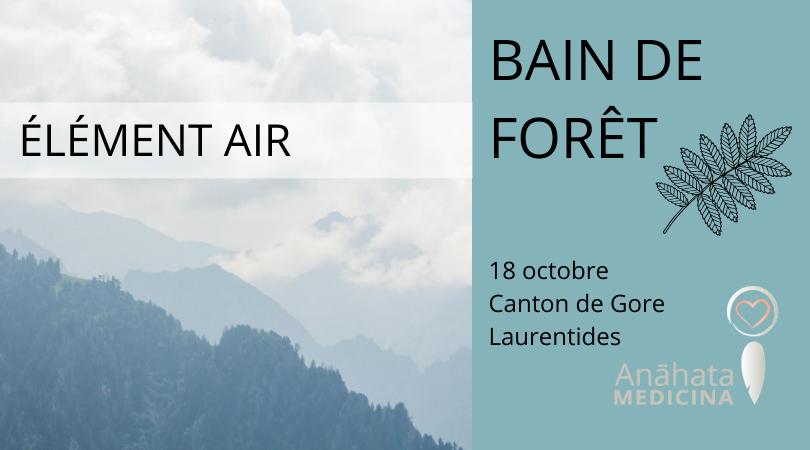 Bain de forêt ÉLÉMENT AIR @ Canton de Gore, Laurentides